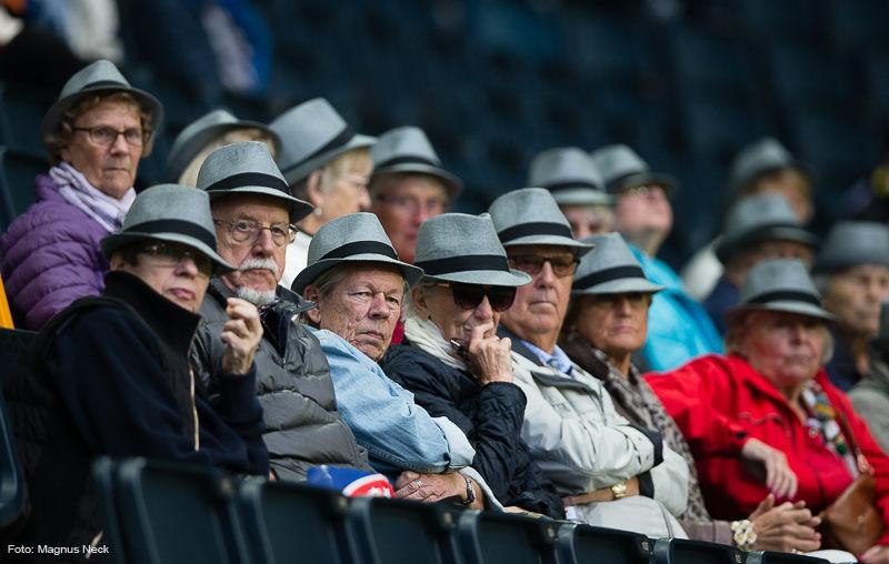 Pensionärer under AIK-Gefle IF FF 2016-09-18