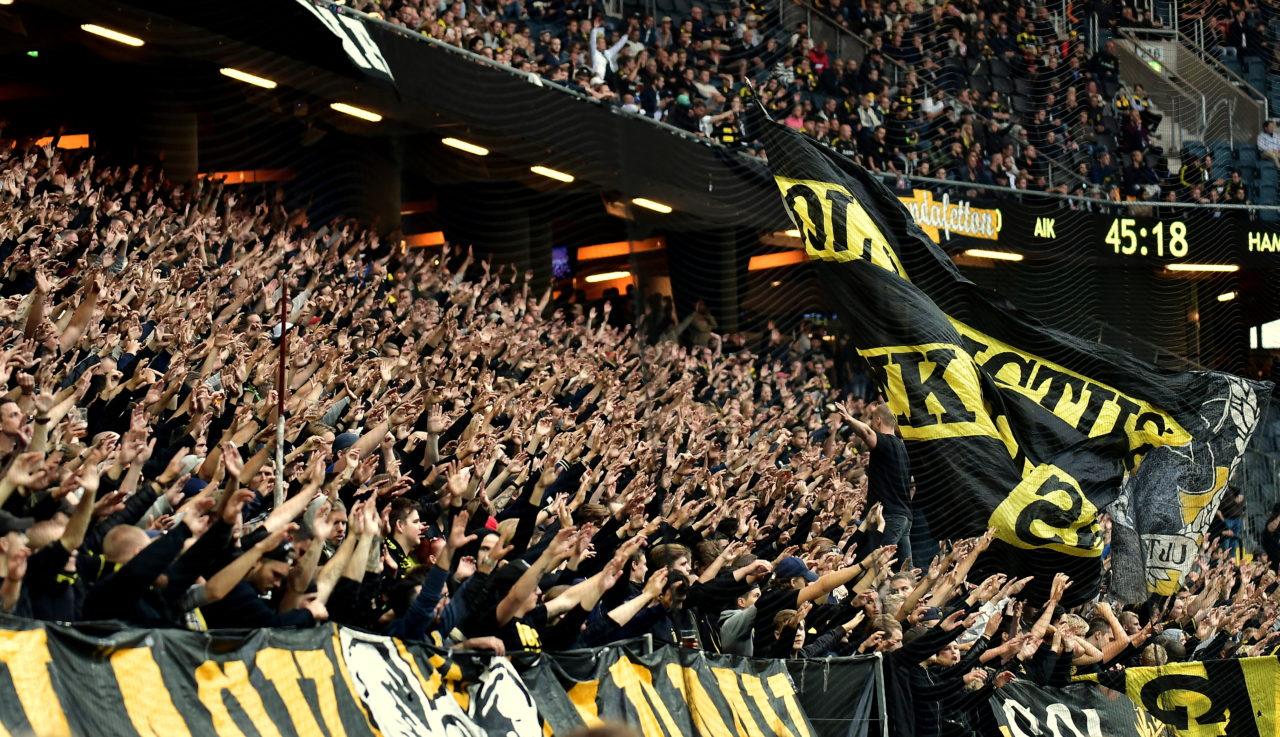 Supportrar 4 AIK - Hammarby 2016-08-28 ( Foto: Jocke Hall )