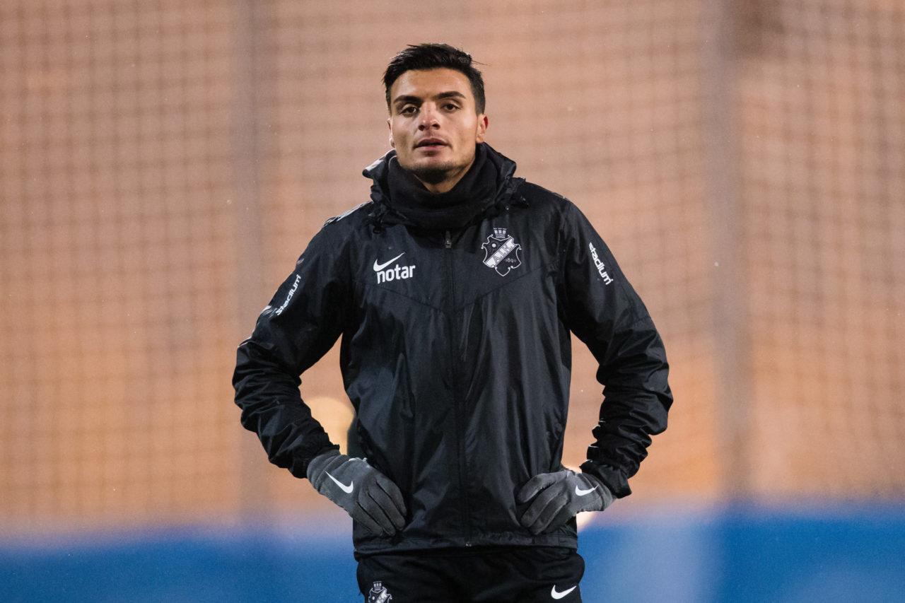 180110 AIK:s Ahmed Yasin under en fotbollstrŠning med AIK den 10 Januari 2018 i Stockholm.  Foto: Andreas Sandstršm / BILDBYRN / Cop 104
