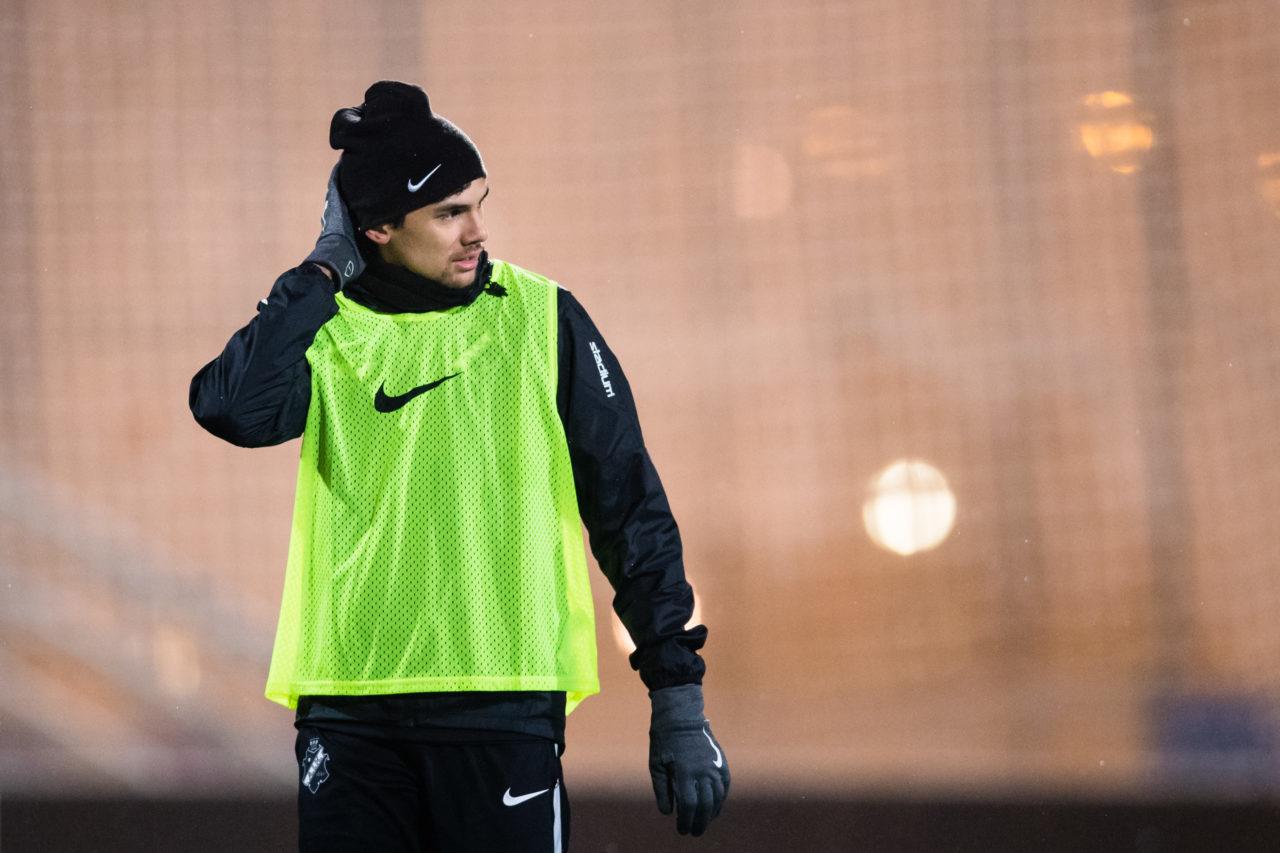 180110 AIK:s Jesper Nyholm under en fotbollstrŠning med AIK den 10 Januari 2018 i Stockholm.  Foto: Andreas Sandstršm / BILDBYRN / Cop 104