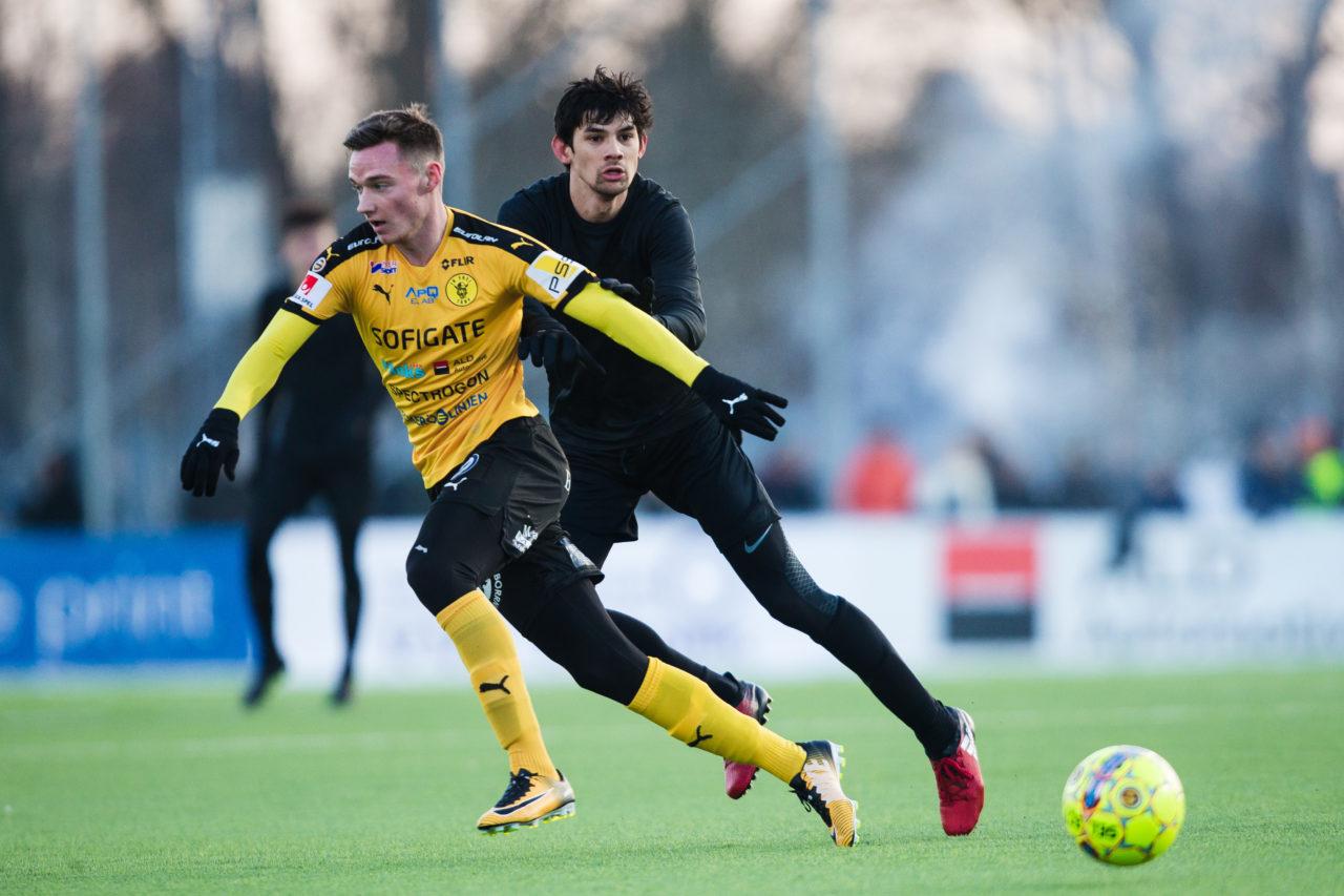 180120 AIK:s Jesper Nyholm under trŠningsmatchen i fotboll mellan Frej och AIK den 20 Januari 2018 i Stockholm.  Foto: Kenta Jšnsson / BILDBYRN / Cop 210