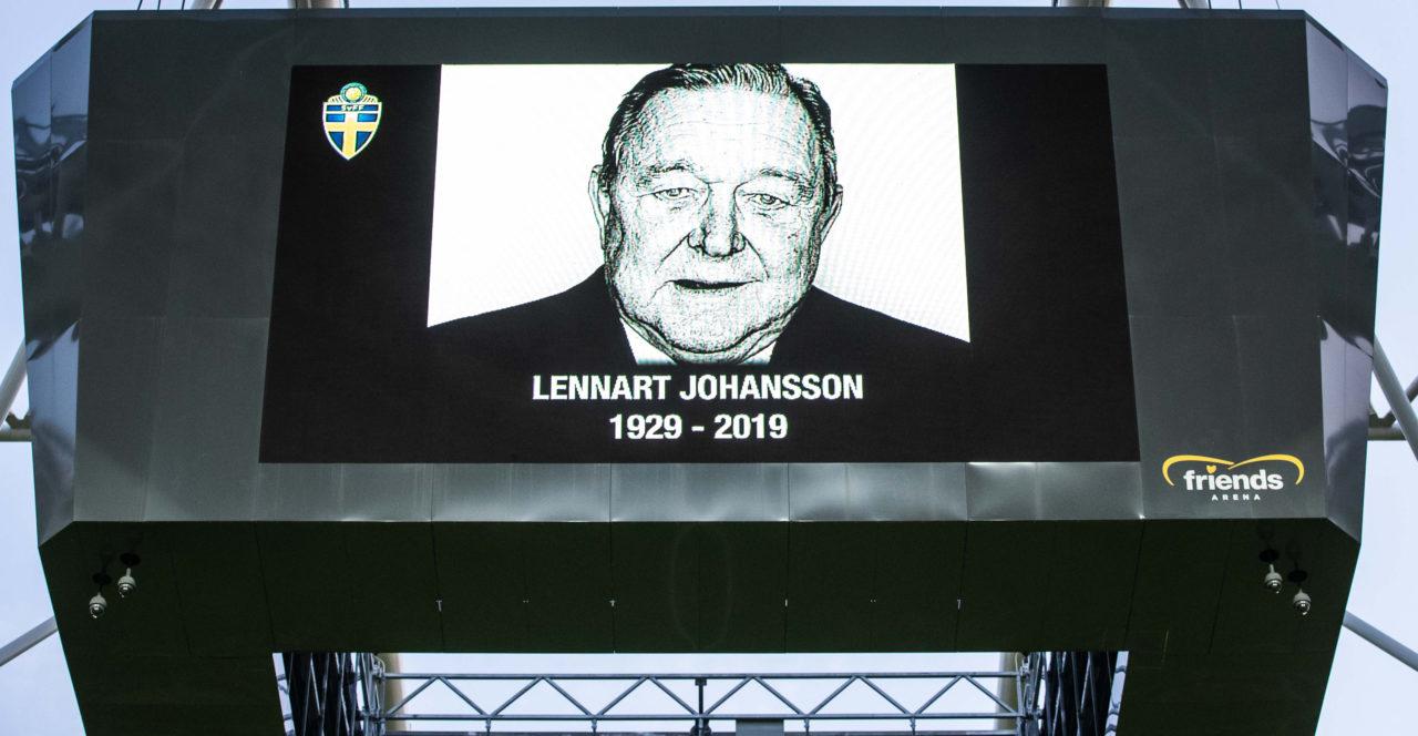 Tyst minut till minne av Lennart Johansson