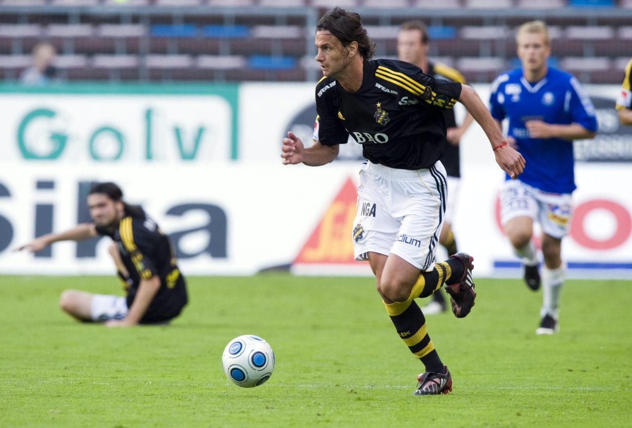 090829 Fotboll, Allsvenskan, AIK - Trelleborg: Iván Obolo, AIK. © Bildbyrån - 42802