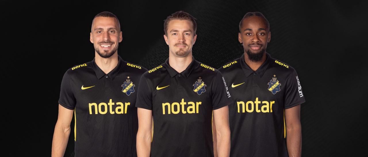 AIK Fotboll tackar tre guldvinnare för deras insatser i klubben 2020-11-11