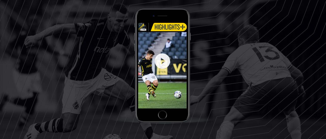 Ny tjänst – få alla höjdpunkter direkt i AIK-appen