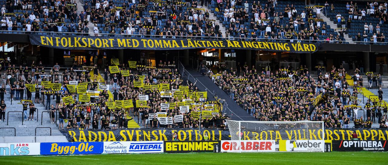 AIK Fotboll drabbas av kapacitetsneddragning på Norra ståplats